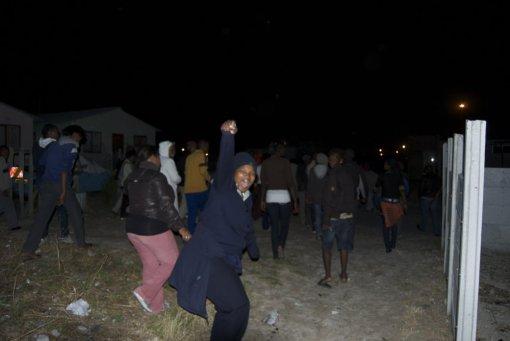 Protesta en Mandela Park en noviembre de 2009