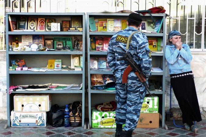 Miliciano checheno en Grozni