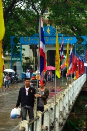 Frontera birmana en Mae Sai