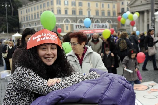 Plaza del Pueblo. Manifestación contra Silvio Berlusconi