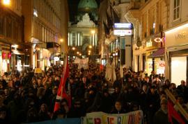 Marcha en el centro de Viena