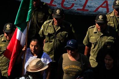 Presencia de la Policía Comunitaria en la Marcha por la Paz