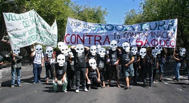 Acción contra la minería a cielo abierto en Mendoza (2010)