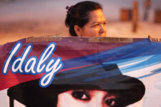 Durante la entrada de la caravana a Ciudad Juárez