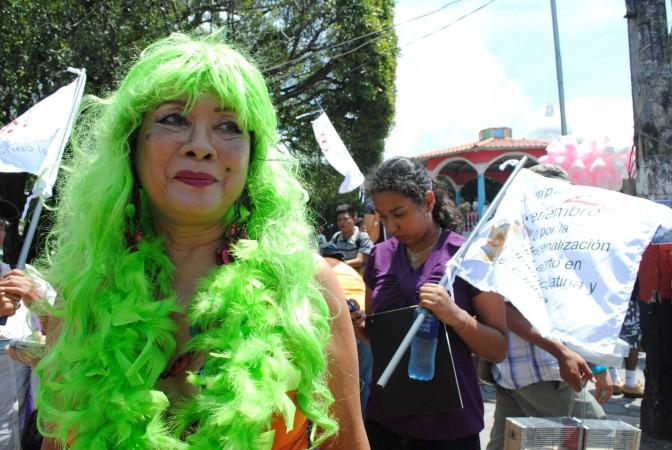 Participante de la Marcha de las putas en Nicaragua