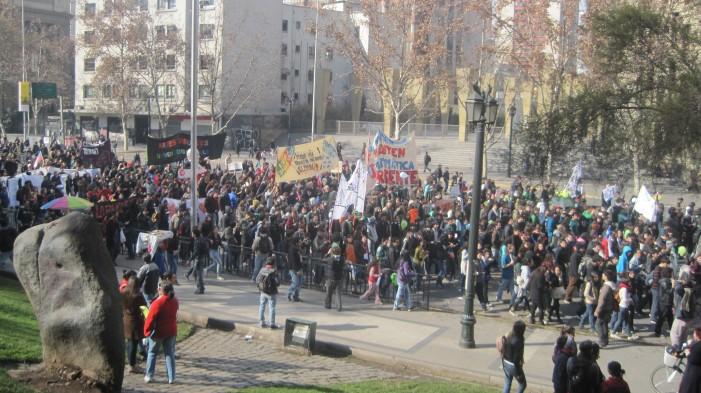 Manifestación estudiantil en Chile
