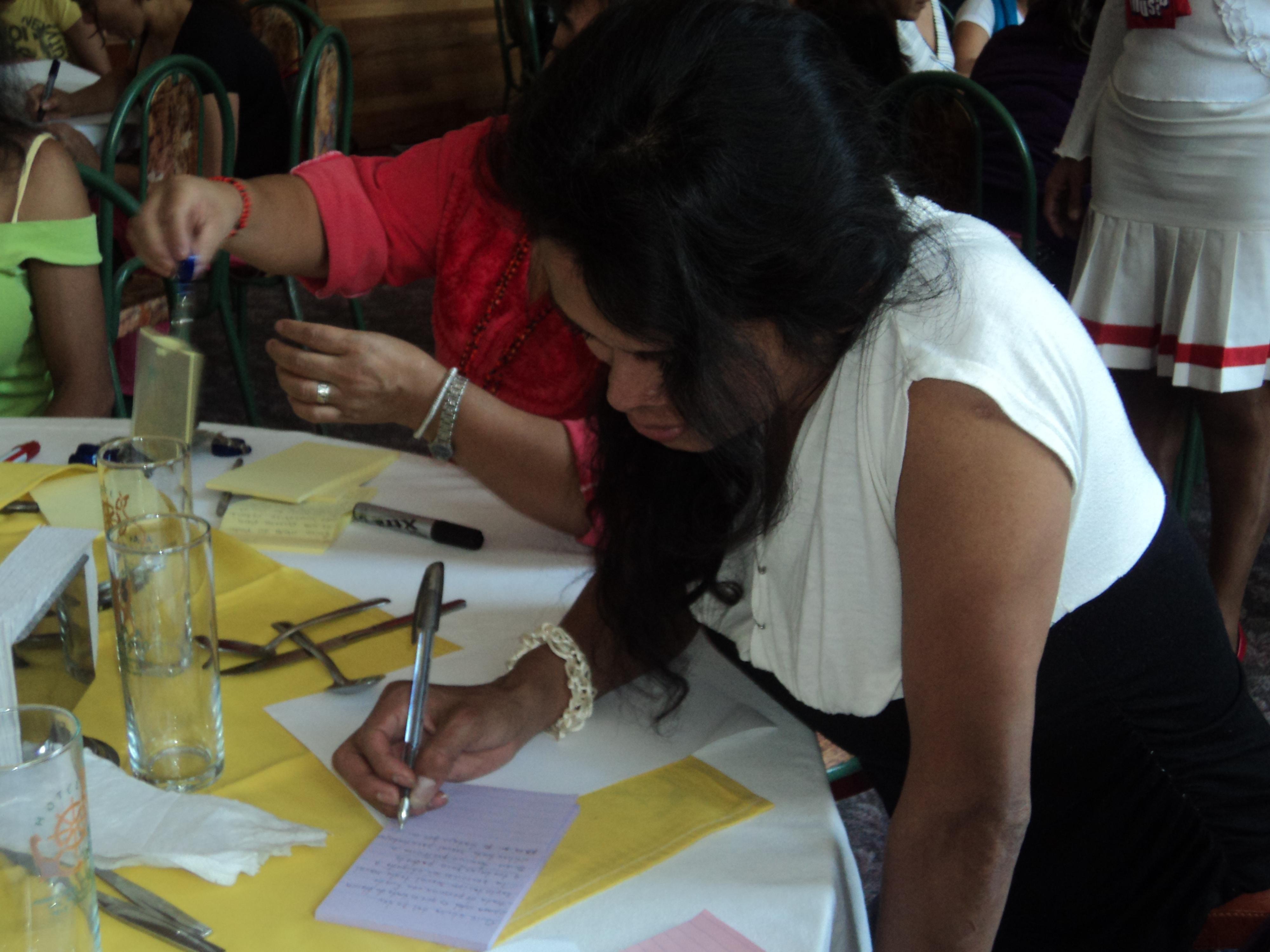 Durante el XIV Encuentro de trabajadoras sexuales en México