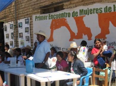 Asamblea de mujeres en la Montaña de Guerrero
