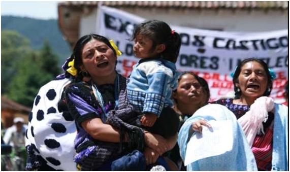 Jornada contra la impunidad. Acteal. Foto: Moysés Zúñiga