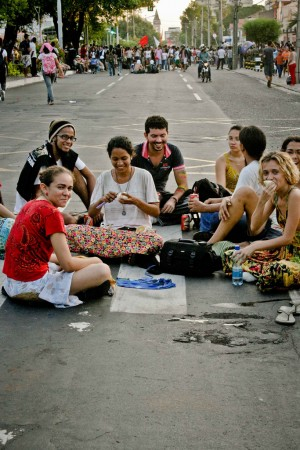 Protestas de estudiantes de Piauí, Brasil.