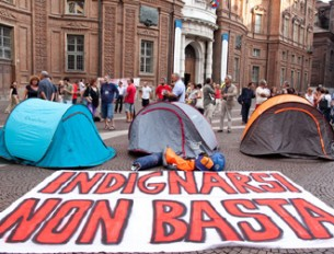 Protesta indignad@s en Italia