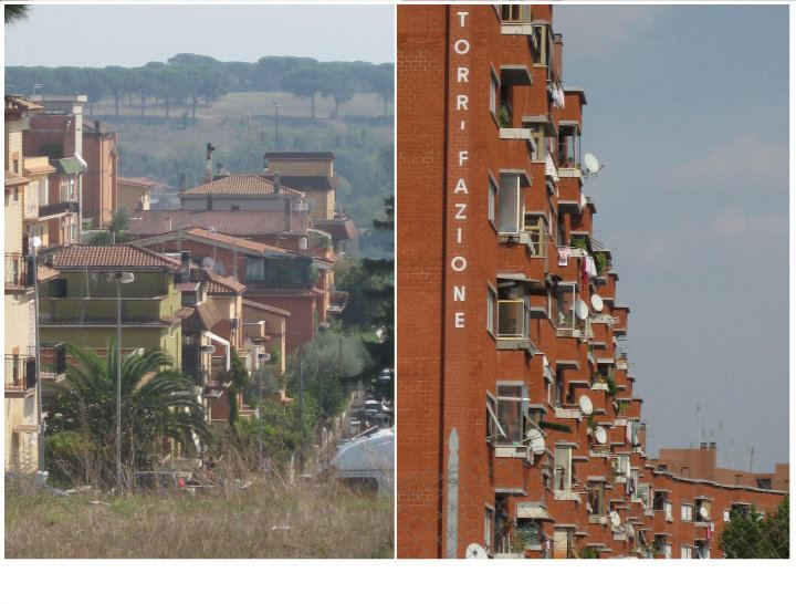 Labaro, Roma. Edificios