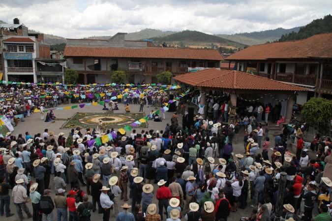 Nombramiento de autoridades del Concejo Mayor en Cherán: Foto: Cecila Girón