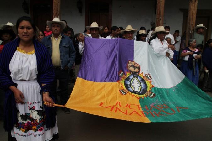 Bandera Purhepécha. Foto: Cecilia Girón