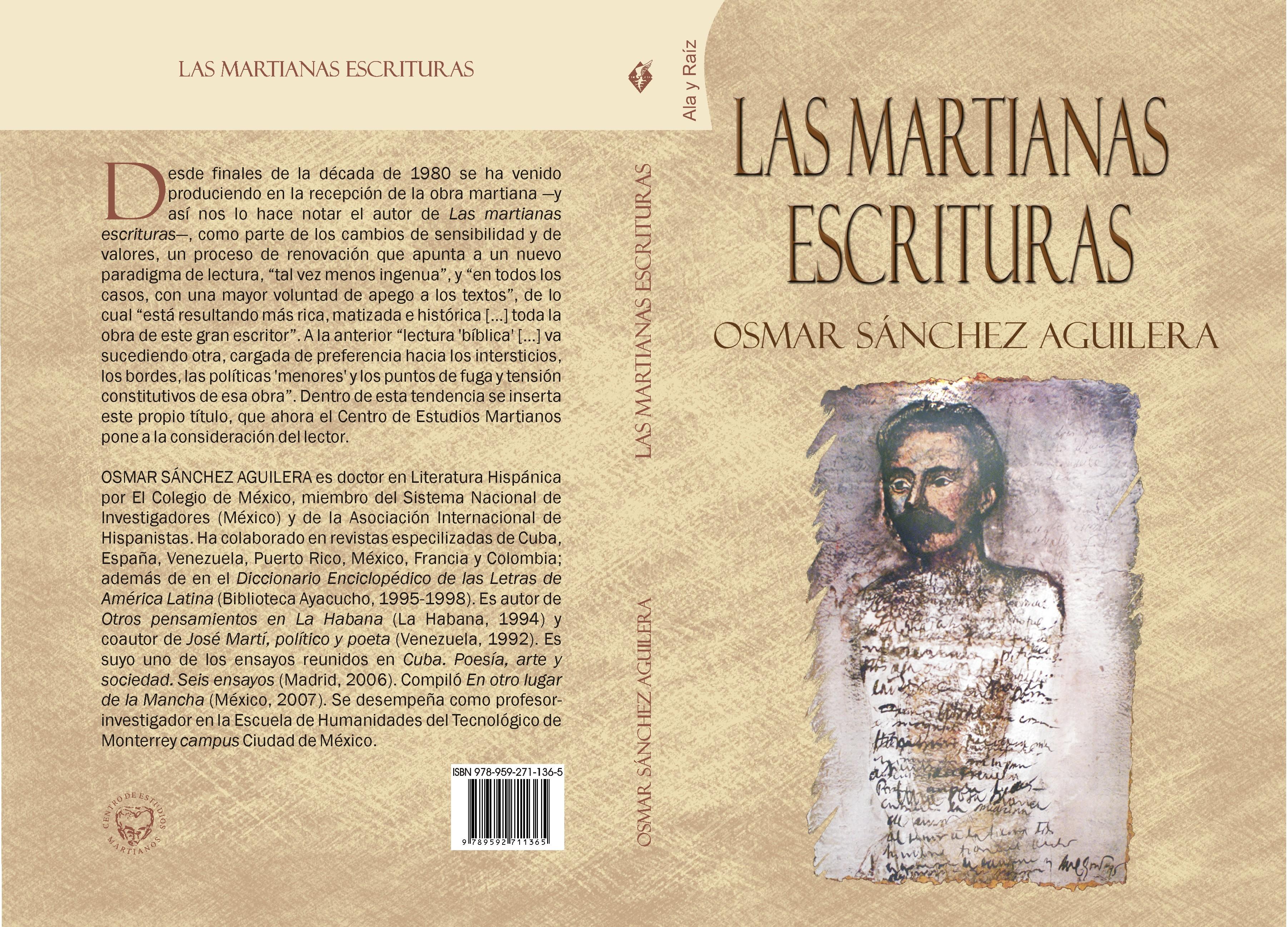 Cubierta Las martianas escrituras