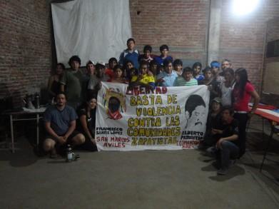 Los y las jóvenes campesinas estudiantes de primer año de la escuela de agro-ecología en Quimili del Movimiento Campesino de Santiago del Estero-Vía Campesina (MOCASE-VC)
