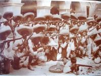 Zapatistas en Tlapa. Archivo de Francisco Herrera.