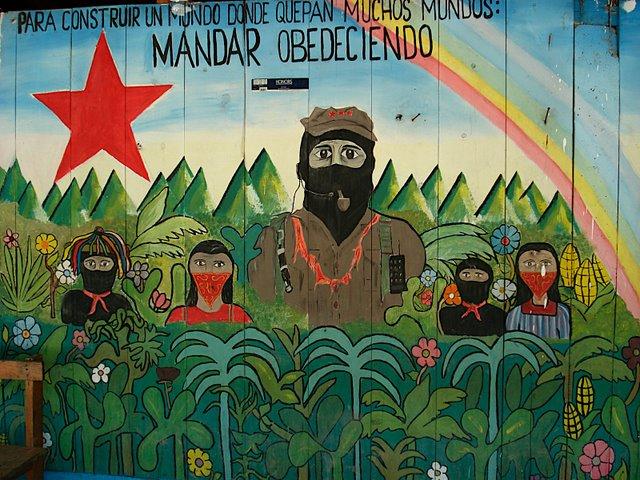 pintura EZLN MANDAR OBEDECIENDO