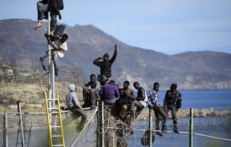 Migrants Seek Asylum In The Spanish Enclave Of Melilla In Northern Africa