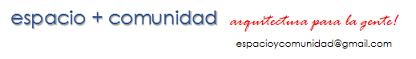 Logo espacio +comunidad membrete