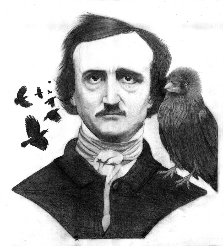 edgar_allan_poe_and_the_raven_by_pakstrax-d5julbg