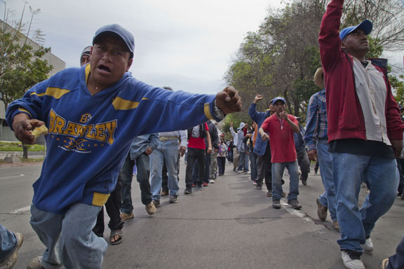 Striking Farm Workers from San Quintin March to the Border