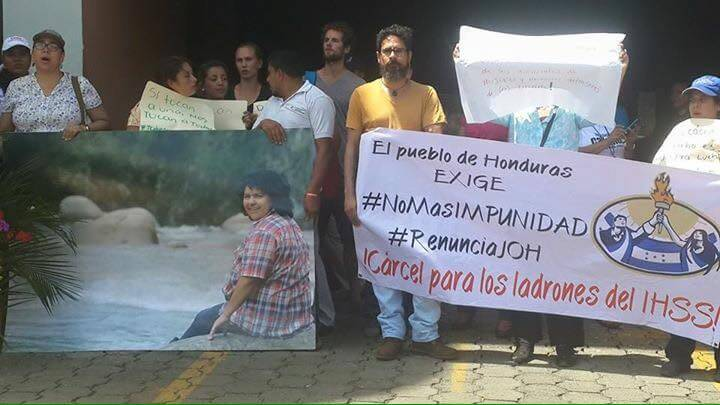 Berta solidaridad Nicaragua