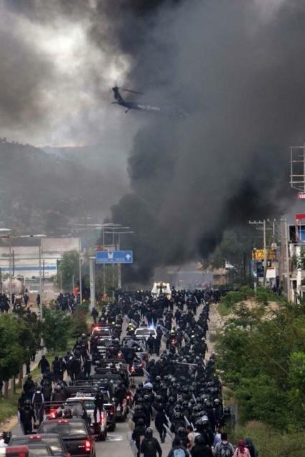 Represión a maestros y pueblo oaxaqueño en Nochixtlán