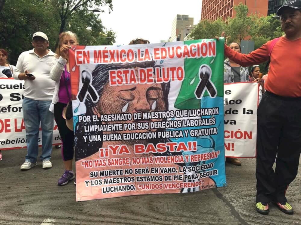 CNTE Sección IX movilización 5 de julio 16 / foto: Desinformémonos