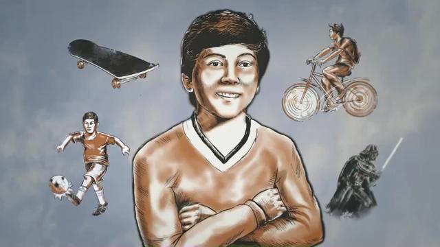 Captura de pantalla de Marco Antonio, el niño que aún escribe en al aire