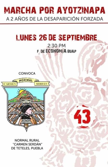 Ayotzinapa2años BUAP