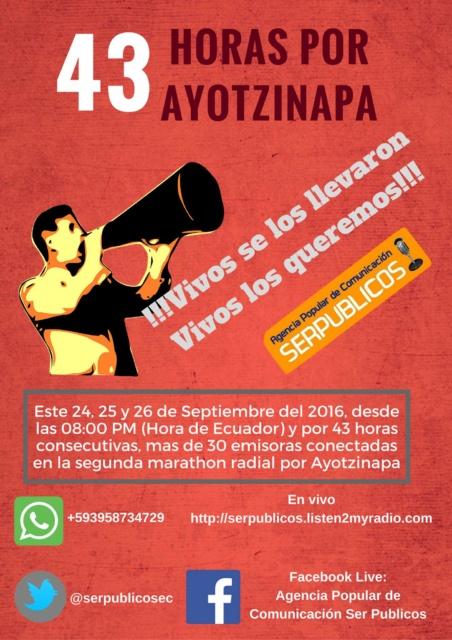 Ayotzinapa 2 años Ecuador