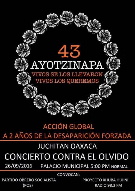 Ayotzinapa 2 años / Juchitán Oaxaca