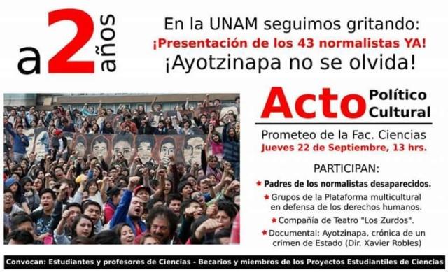UNAM Ayotzinapa 2 años