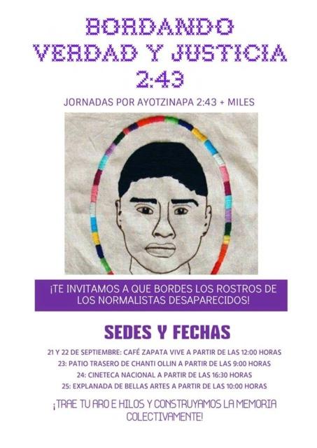 Bordando Ayotzinapa