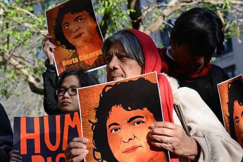 Berta Cáceres defensora de DH