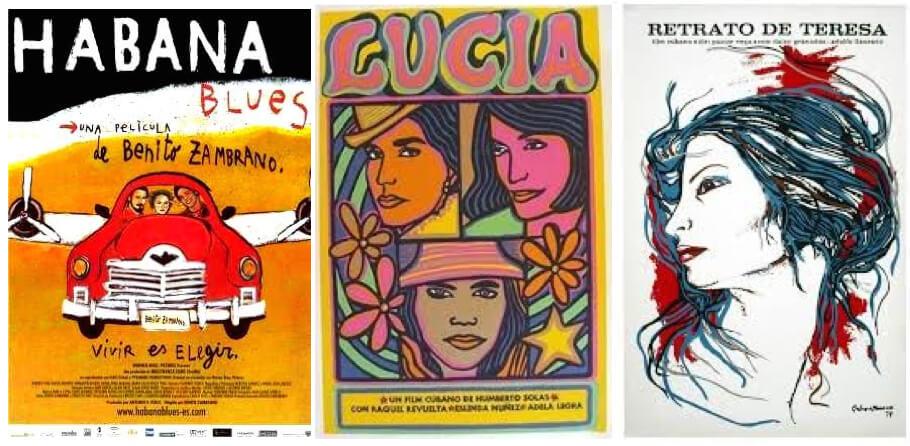afiches Alberto Cortés / Cine cubano