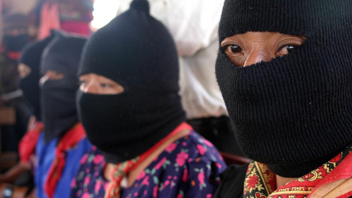Javier Hernández, Chiapas, 14AGOSTO2005.-Mujeres de la Comandancia Zapatista, durante el encuentro de comunidades indigenas  con Zapatistas, para la preparación de la Sexta Declaración Indigena. Imagen de archivo 13/AGOSTO/2005 FOTO: Moisés Pablo/CUARTOSCURO.COM