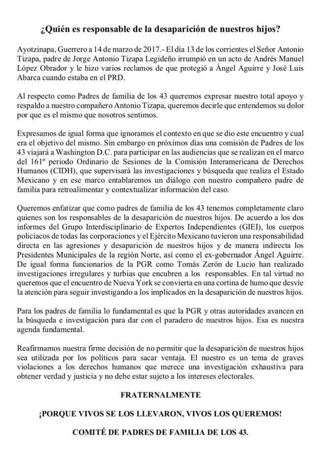 ayotzi comunicado 14mar17 2