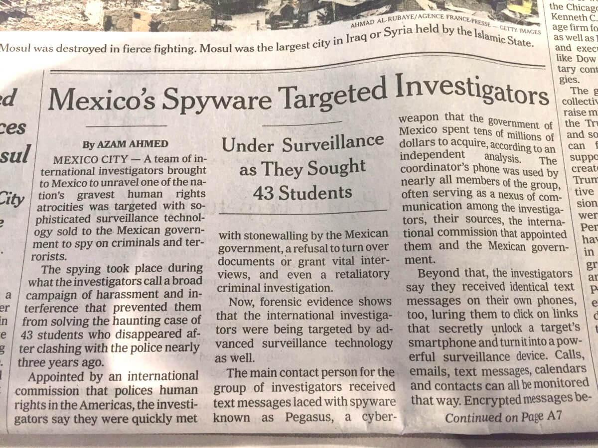 mexico espia a GIEI nyt