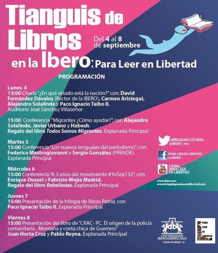 desagenda Ibero para leer en libertad
