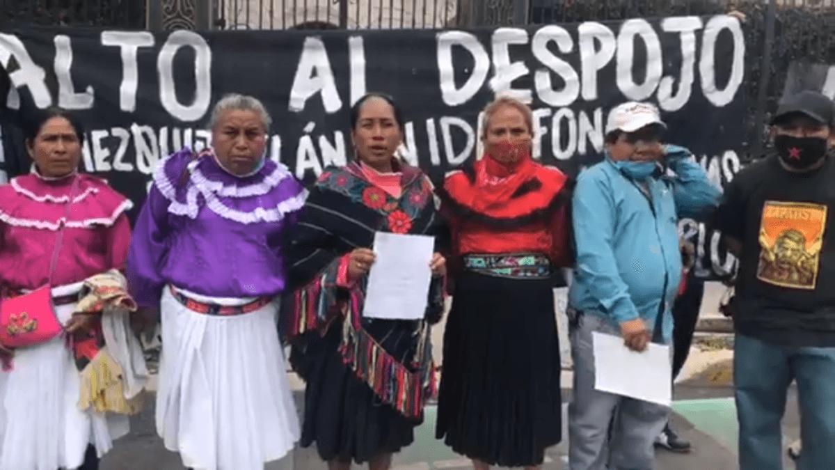 Otomís de Querétaro exigen restitución de pozo de agua frente a escasez y saqueos
