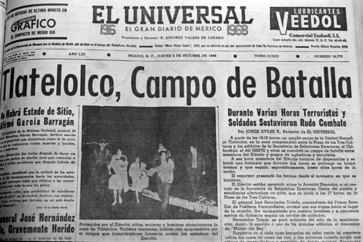 Resultado de imagen para 2 de octubre de 1968 periodico